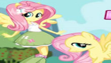 Fluttershy Pony VS Human (172 times)