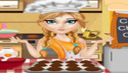 Annie cooking chocolate cupcake