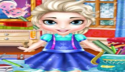 Baby Elsa School Prep (219 times)